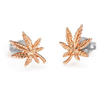 Mary Jane 14kt Rose Studs