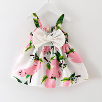 New Baby Dress Infant girl dresses Lemon Print Baby Girls Clothes Slip Dress Princess Birthday Dress for Baby Girl