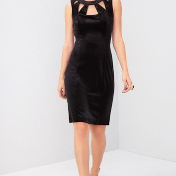 Eliza J Velvet Cutout Sheath Dress | Nordstrom