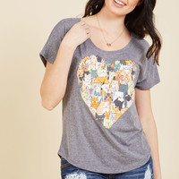 Thoughts and Felines T-Shirt | Mod Retro Vintage Sweaters | ModCloth.com