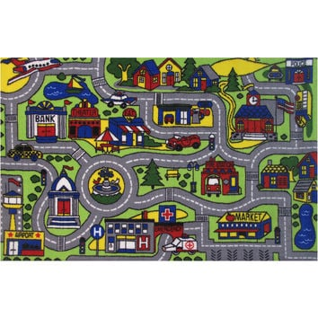 Fun Rugs Fun Time Collection Driving Time Area Rug