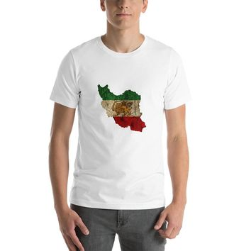 Iran Flag (post-revolution) Short-Sleeve Unisex T-Shirt