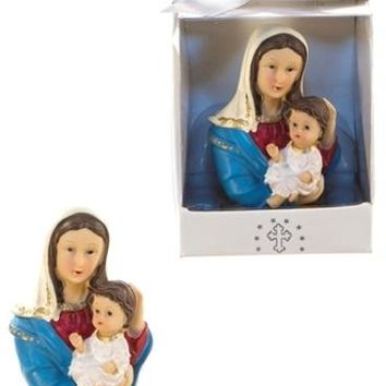 madonna carrying child statue poly resin Case of 48