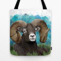 Big Horn Ram  Tote Bag by North Star Artwork