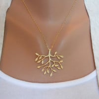 Tree Necklace in Gold  gold tree delicate pendant by morganprather