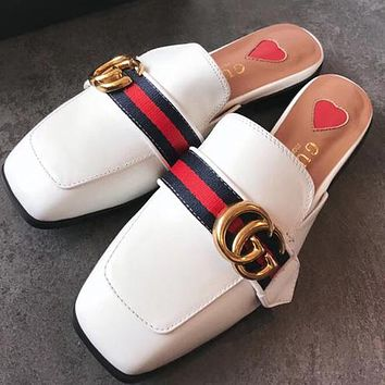 Gucci  Women Fashion Simple Slipper Mules Sandals Shoes