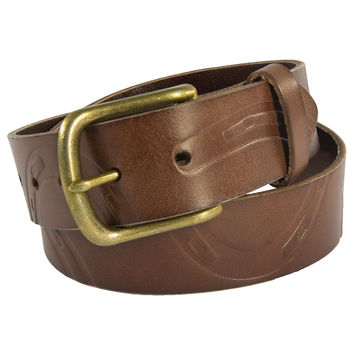 Noble Outfitters Pony Print Belt Antique Brown