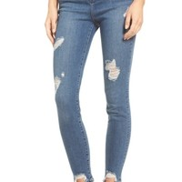 SP Black High Waist Step Hem Skinny Jeans | Nordstrom