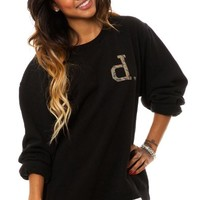 Diamond Supply Co. Women's Un-Polo Rain Camo Crewneck Sweatshirt Medium Black