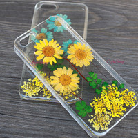 iPhone 6 case, natural daisy, Real pressed flowers Phone case, iPhone 6 Plus, iPhone 5S case, iPhone 5c case, samsung s5 case Note3 case-F22