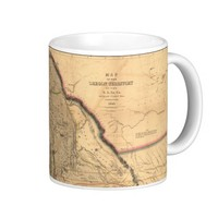 Vintage 1841 Oregon Pacific Northwest Map Coffee Mug