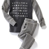 Old Navy Graphic Print Sleep Sets For Baby