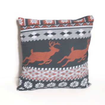 Ugly Christmas Sweater Pillow