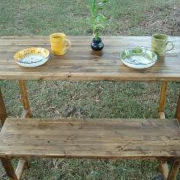 Reclaimed Wood Table and Bench by blueridgewoodworking on Etsy