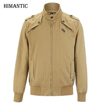 Jacket men Casual Winter Jacket Cotton Stand Collar Coats Army Military Outdoors men's Male clothes overcoat
