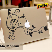 Black or White appleMacbook Decals Macbook Stickers by MaMoLIMITED
