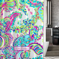 "New Custom Lilly Pulitzer Colorful Art Shower Curtain 60"" x 72"""