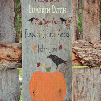 Pumpkin Patch Sign Rustic Fall Sign Halloween Sign Thanksgiving Sign Autumn Sign Montana Made Wood Sign Farmers Market Sign Harvest Sign