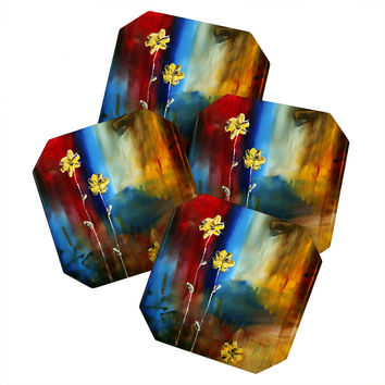 Madart Inc. Soft Touch Coaster Set