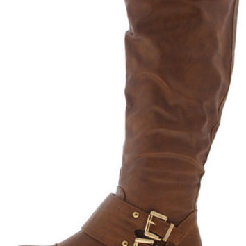 HANNAH02 COGNAC KNEE HIGH RIDING BOOT