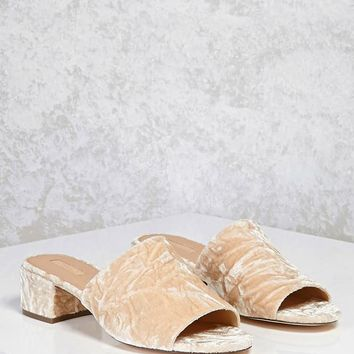 Crushed Velvet Mules