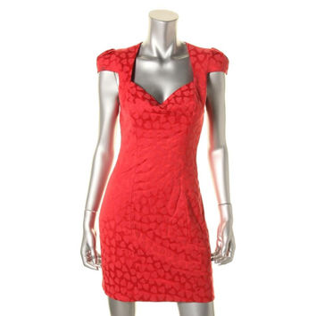 Guess Womens Woven Hearts Clubwear Dress