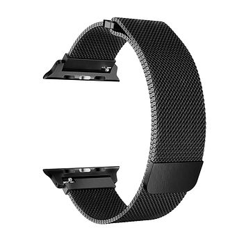 Stainless Steel Mesh Milanese Loop for Apple Watch Band 40/38mm, Adjustable Magnetic Closure Replacement iWatch Band for Apple Watch Series 4 3 2 1 (40/38mm Black)