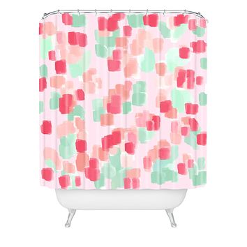 Lisa Argyropoulos Abstract Floral Shower Curtain