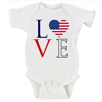 4th Of July Love Gerber Onesuit ®