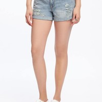 "Distressed Boyfriend Denim Shorts for Women (3"") 