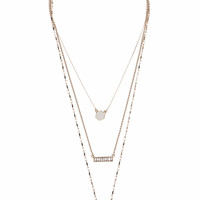 **Geo Luxe Multi Row Necklace by Orelia - Topshop