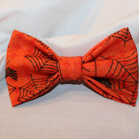 Sparkly Spider Web Girls Hair Bow. Halloween by Alexisessories