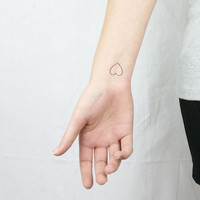 5 tiny hearts temporary tattoos - valentines day - mothers day