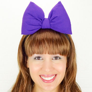 Daisy Duck Bow Headband Purple Minnie Mouse Ears Cute Mickey Mouse Ears Daisy Duck Halloween Costume Minnie Mouse Costume Outfit Minnie Bow