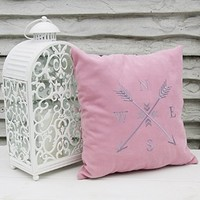 Personalized Pillow Covers Arrow Compass Rose Nautical Pillows Pillowcase Decorative Pillow Cover Arrows Home Bedroom Decor Throw Pillows Gift V24