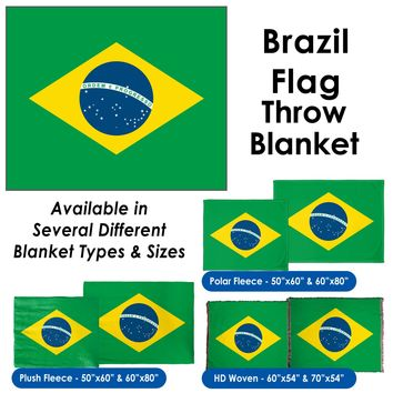 Brazil Flag Throw Blanket / Tapestry Wall Hanging