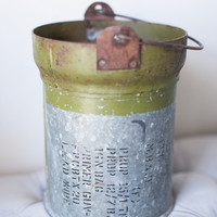 Iron Military Canister Bucket with Handle