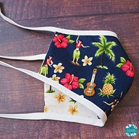 Tropical Hula Girl Face Mask for Kids