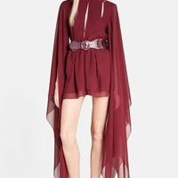 Women's Emilio Pucci Angel Sleeve Silk Georgette Romper,