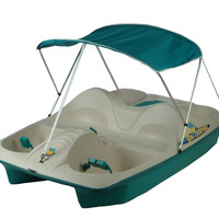 Sun Dolphin Sun Slider Five Person Pedal Boat with Adjustable Seats and Canopy