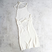 paper heart - gauzy knit cover up dress