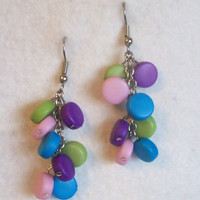 Colorful Earrings Colorful Jewelry Beaded Earrings Mothers Day Gift