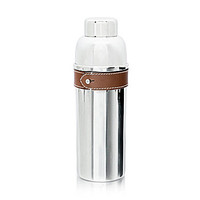Ralph Lauren Preston Stainless Steel & Saddle Leather Cocktail Shaker