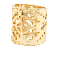 AZTEC CUT-OUT CUFF RING