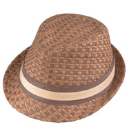 Henschel Fedora two tone straw Hat 6295881 - Brown