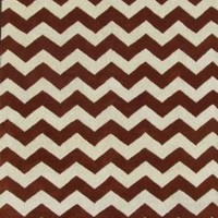ADC Rugs Chevron Zig Zag Handamde Wool Area Rug, 8-Feet by 10-Feet, Rust and Ivory