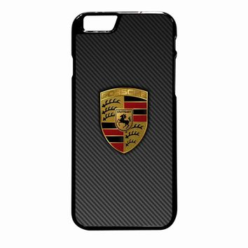 Porsche Logo Carbon iPhone 6 Plus case