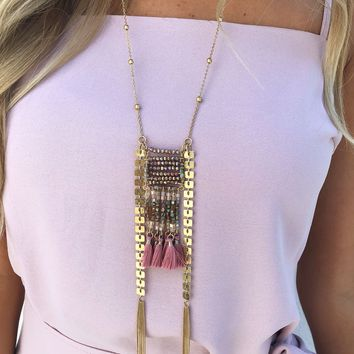 See You Around Necklace: Gold/Multi