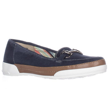 Anne Klein Tameron Slip On Hidden Wedge Fashion Sneakers - Navy