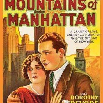 Mountains of Manhattan (Paper Poster)
